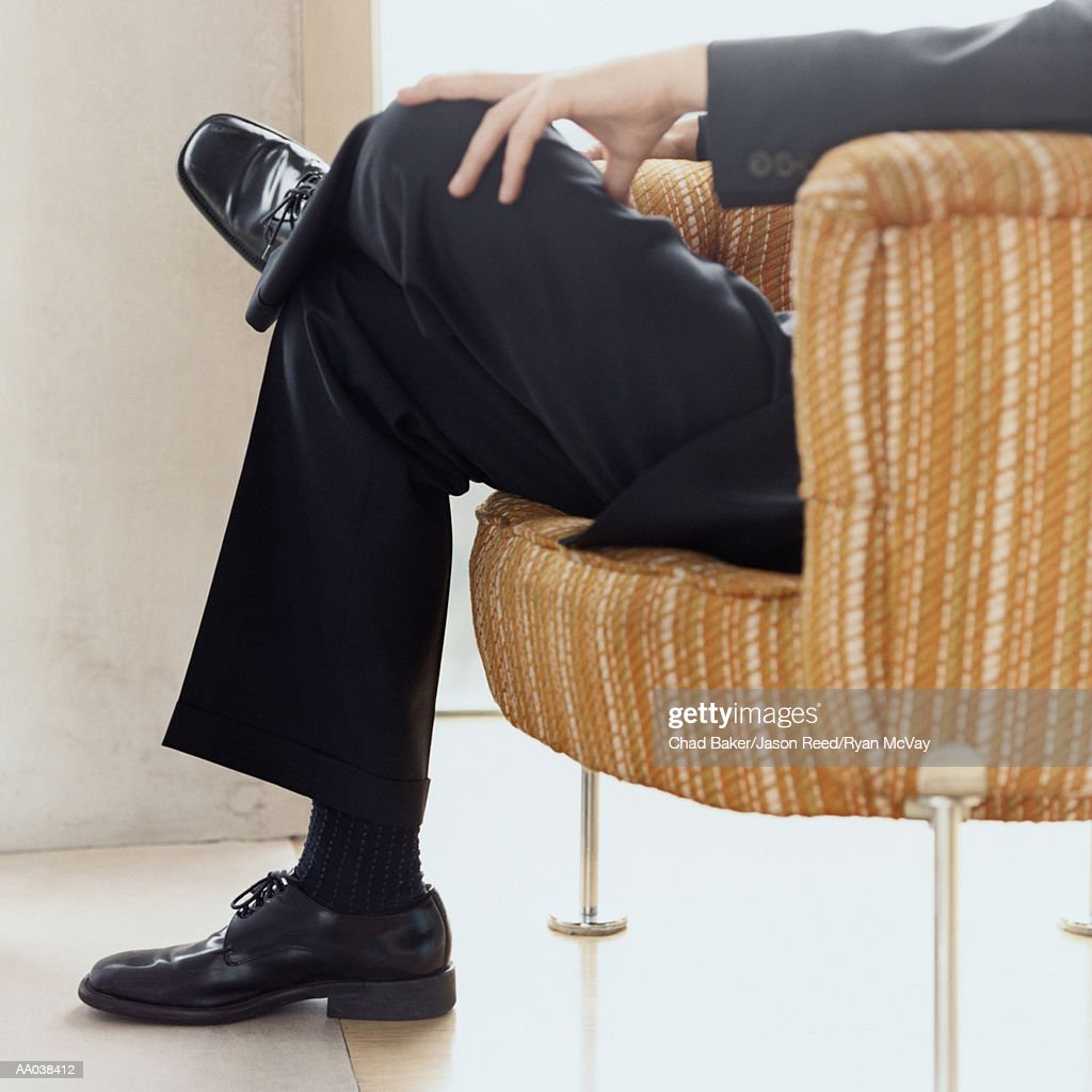 Low Section of a Well-Dressed Man : Stock Photo