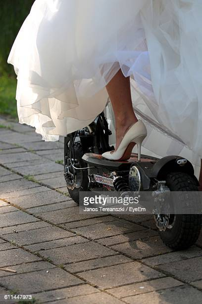 Low Section Of Bride On Push Scooter
