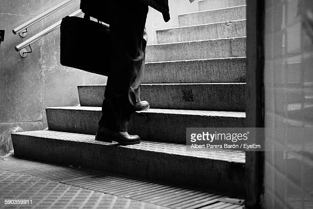 Low Section Of Businessman On Staircase