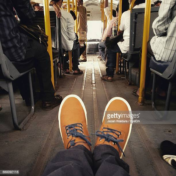 Low Section Of Commuter In Bus
