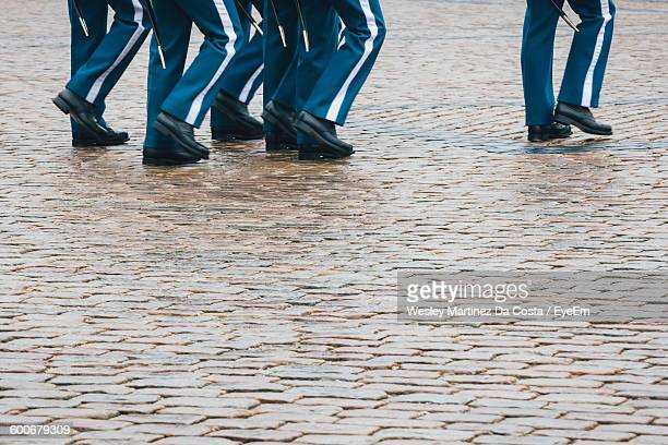 Low Section Of Guards Marching On Parade