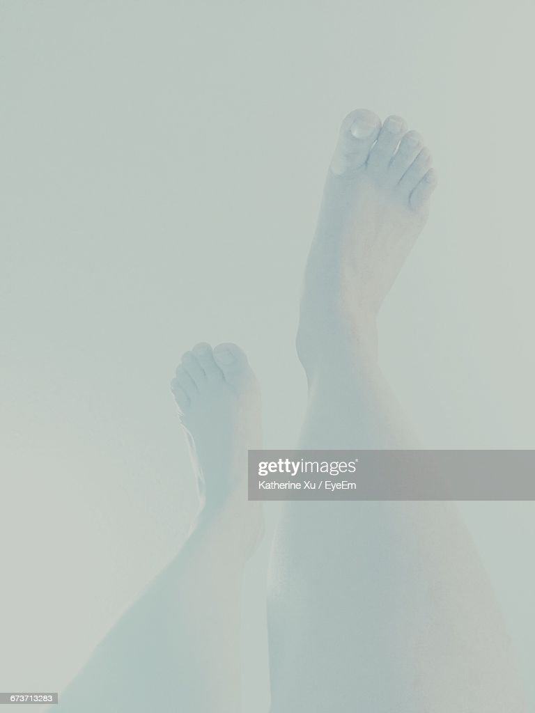 Low Section Of Man In Water : Stock Photo