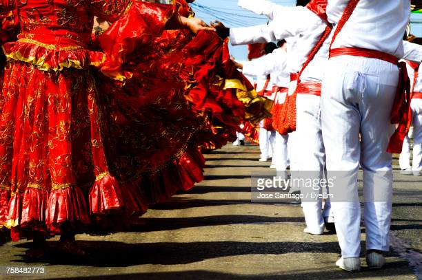 low section of people during festival - barranquilla stock pictures, royalty-free photos & images