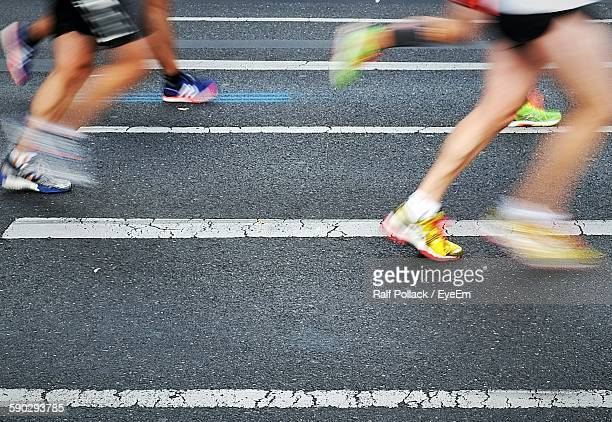 Low Section Of People Running In Marathon