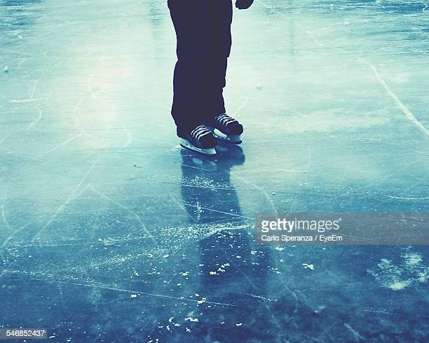 Low Section Of Person On Ice Rink