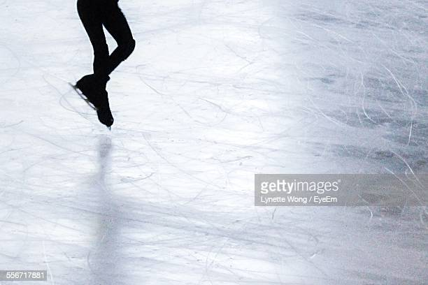Low Section Of Person On Ice Skating