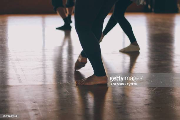 Low Section Of Woman In Dance Studio