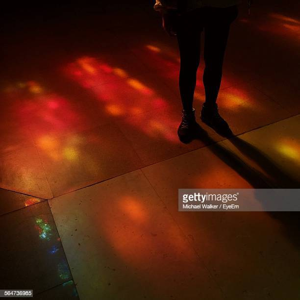 Low Section Of Woman Standing On Dance Floor At Nightclub