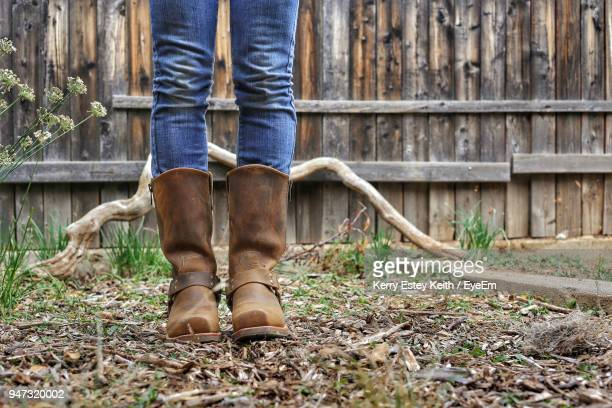 low section of woman standing outdoors - kerry estey keith stock photos and pictures