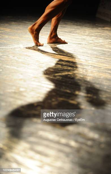 low section of woman walking on floor - low section stock pictures, royalty-free photos & images