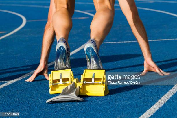 Low Section Person On Sports Track