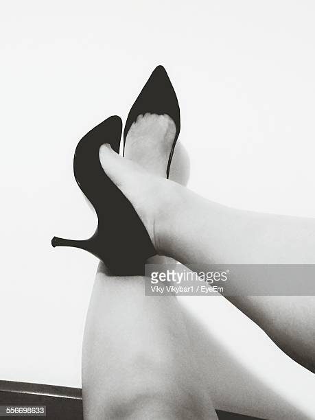 Low Section View Of Woman With Stilettos