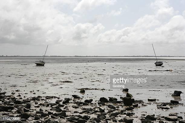 Low tide on Noirmoutier island Noirmoutier France