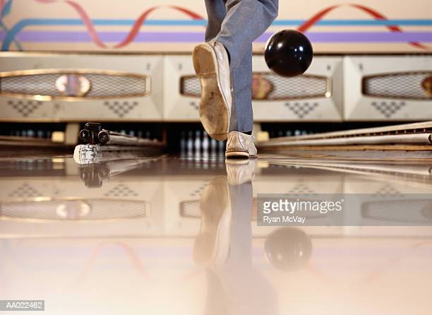 Low View of a Man Bowling
