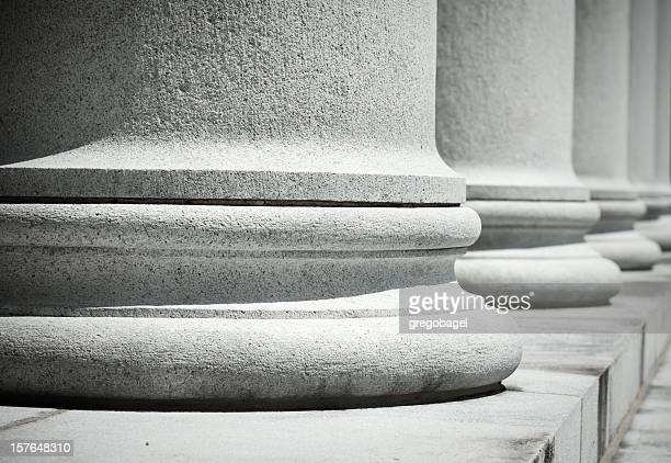 low view of columns in a row - politics abstract stock pictures, royalty-free photos & images