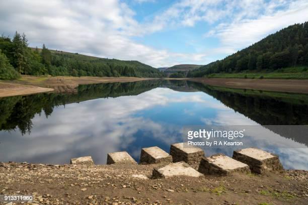 Low water at Derwent reservoir, Peak District, Derbyshire, England