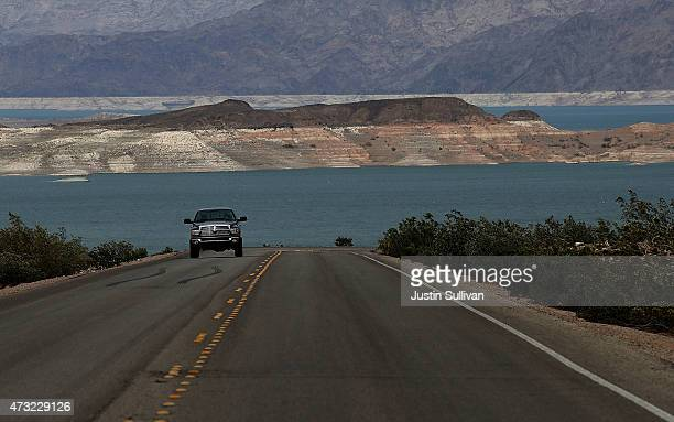 Low water levels are visible at Lake Mead on May 13 2015 in Lake Mead National Recreation Area Nevada As severe drought grips parts of the Western...