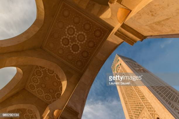 Low wide angle view of Mosque Hassan II, Casablanca, Morocco