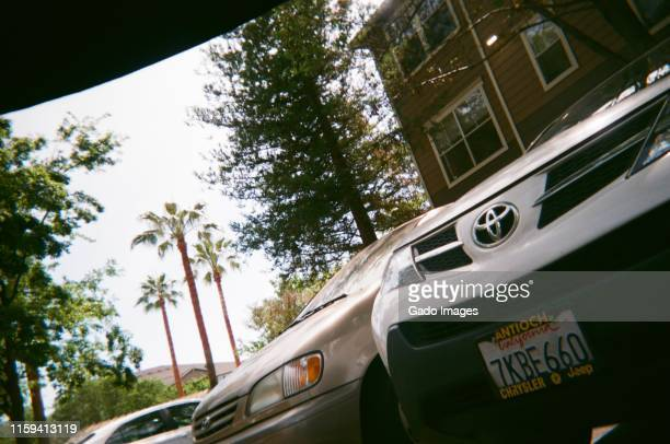 low-angle parking lot - gado stock photos and pictures