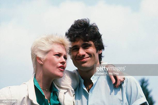 Lowangle portrait of American actress Melanie Griffith and her husband CubanAmerican fellow actor Steven Bauer New York New York 1984
