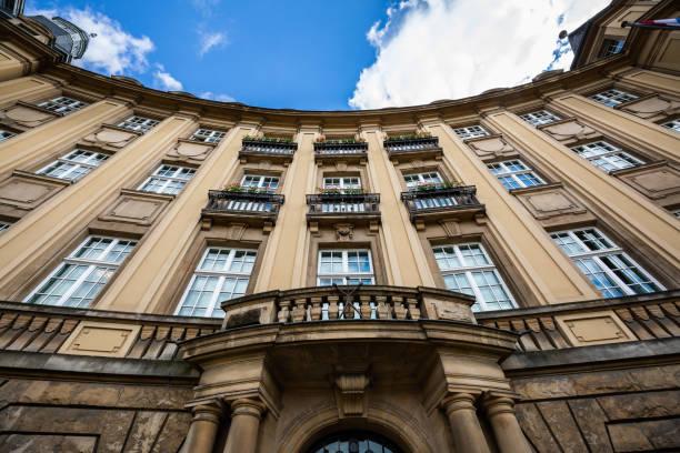 Luxembourg City, Luxembourg - June 15, 2018: Low-angle view of Banque et Caisse d'Épargne de l'État