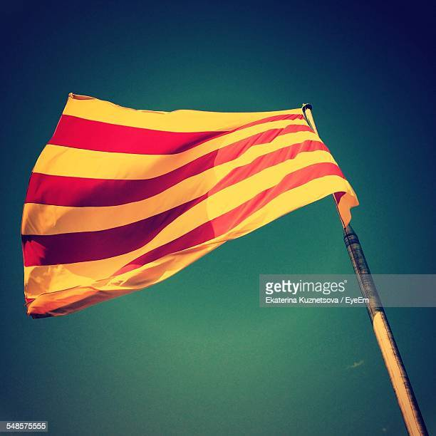 Low-Angle View Of Catalonian Flag