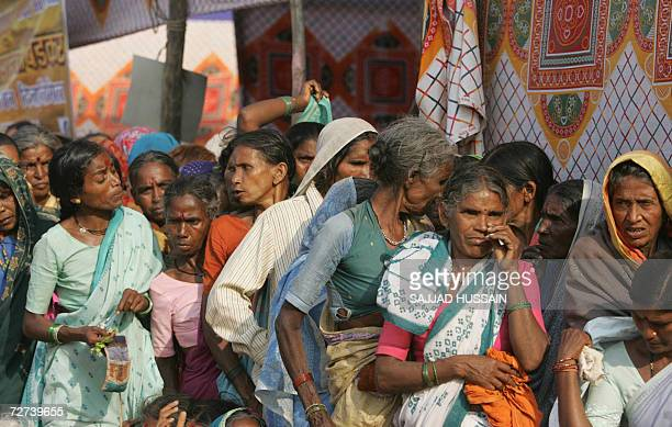 Lowcaste Hindu dalit or the oppressed women wait for medical treatment at a homage site in Mumbai 06 December 2006 More than 200000 Hindus at the...