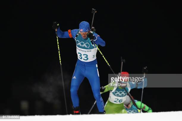 Lowell Bailey of the United States competes during the Men's Biathlon 125km Pursuit on day three of the PyeongChang 2018 Winter Olympic Games at...