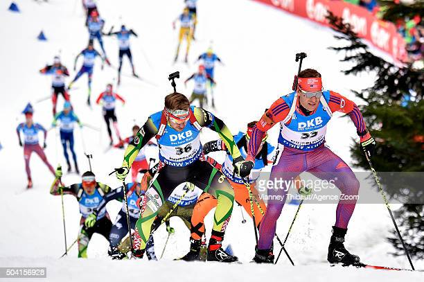 Lowell Bailey of the USA competes during the IBU Biathlon World Cup Men's and Women's Pursuit on January 9 2016 in Ruhpolding Germany