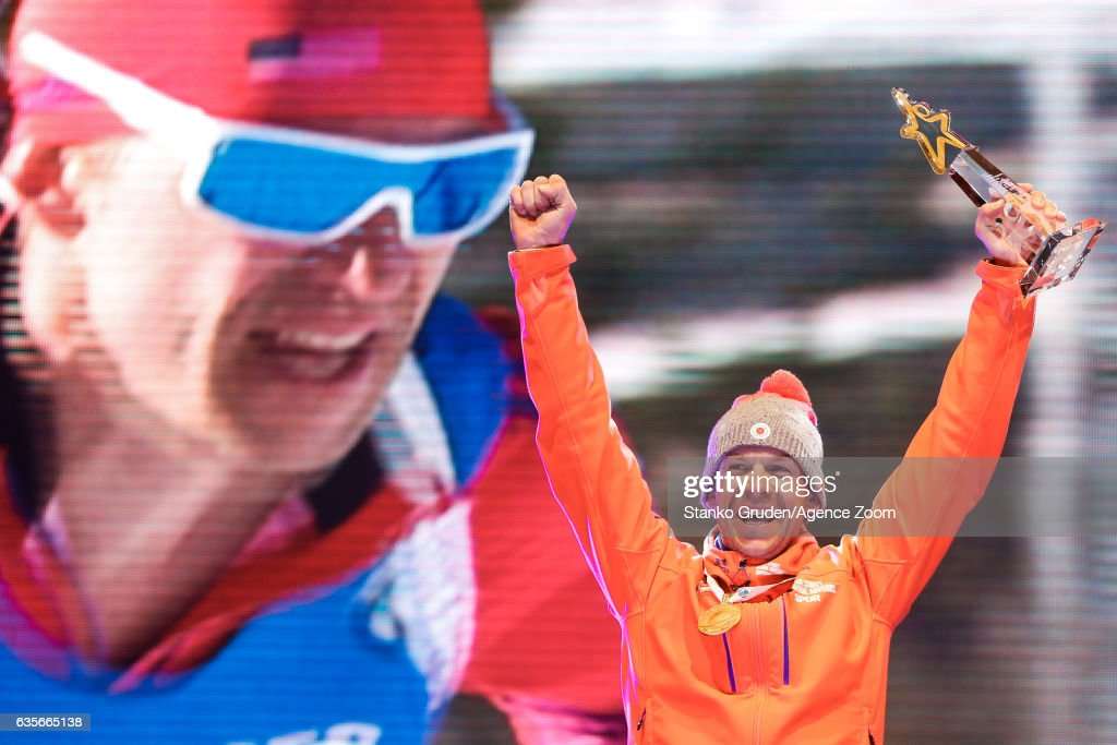 Lowell Bailey of USA wins the gold medal during the IBU Biathlon World Championships Men's Individual on February 16, 2017 in Hochfilzen, Austria.