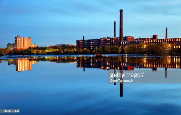 lowell, massachusetts - revolucion industrial fotografías e imágenes de stock