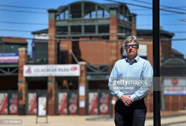 Lowell mayor John Leahy is pictured in front of LeLacheur Park home of the Red Sox minor league affiliate Lowell Spinners in Lowell MA on May 15 2020...