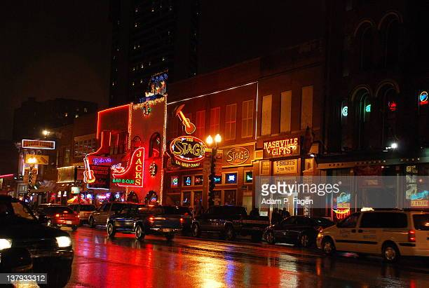 lower broadway - nashville stock pictures, royalty-free photos & images