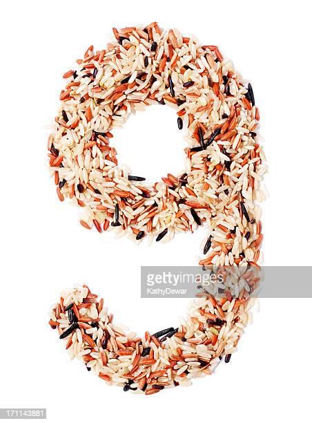 小文字手紙 G で作られた穀物