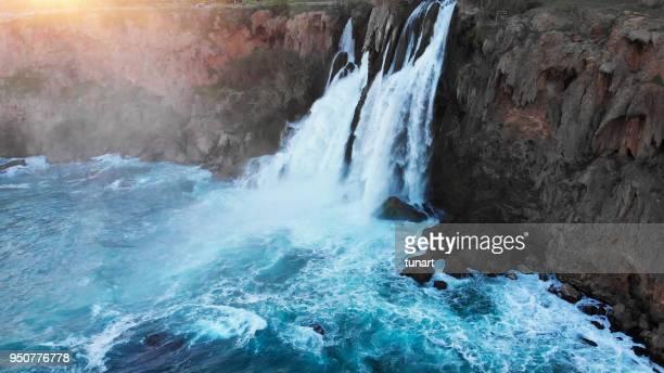 Unteren Duden Wasserfall, Klippen von Antalya, Türkei
