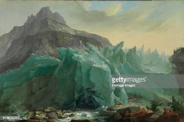 Lower Grindelwald Glacier with the Lütschine River and Mettenberg 1774 Found in the Collection of Stiftung für Kunst Kultur und Geschichte Winterthur