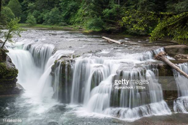 lower lewis river falls - carson california stock pictures, royalty-free photos & images