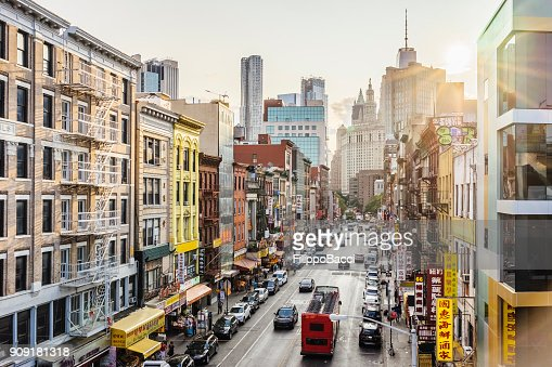 Lower Manhattan cityscape - Chinatown