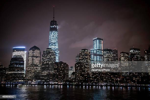 Lower Manhattan Financial District bei Nacht-I