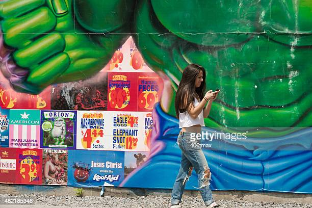 マンハッタン南端部 - ヒューストンストリート ストックフォトと画像