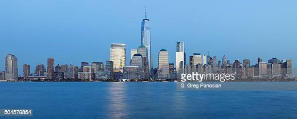 lower manhattan skyline - new york - lower manhattan stock photos and pictures