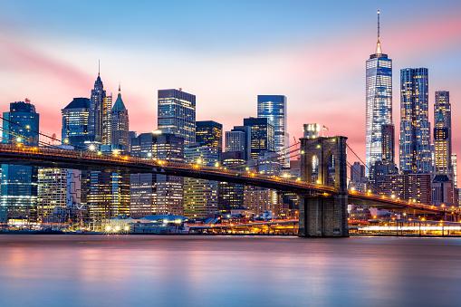 Lower Manhattan skyline 502846306