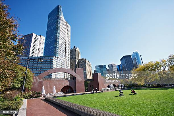 Lower Manhattan skyline seen from Battery Park