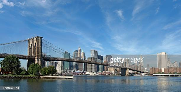 Lower Manhattanan and Brooklyn Bridge