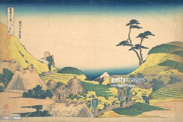 Lower Meguro , from the series Thirty-six Views of Mount Fuji , circa 1830-32. Artist Hokusai.
