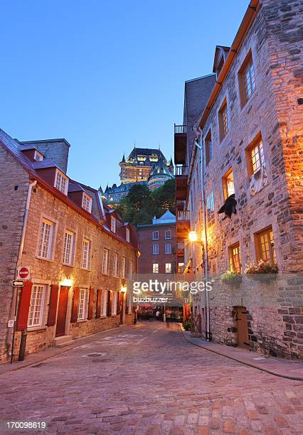 Lower Old Quebec Buildings at Sunset