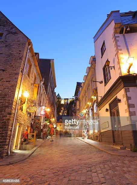 Lower Old Quebec Street at Sunset