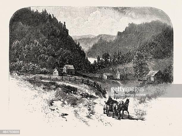 Lower Ottawa Mountain Farm Canada Nineteenth Century Engraving