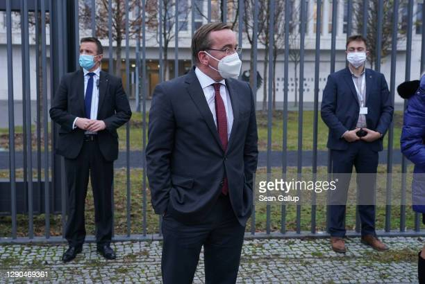 Lower Saxony state Interior Minister Boris Pistorius arrives at the Federal Ministry of Interior for a hybrid meeting of Germany's state interior...