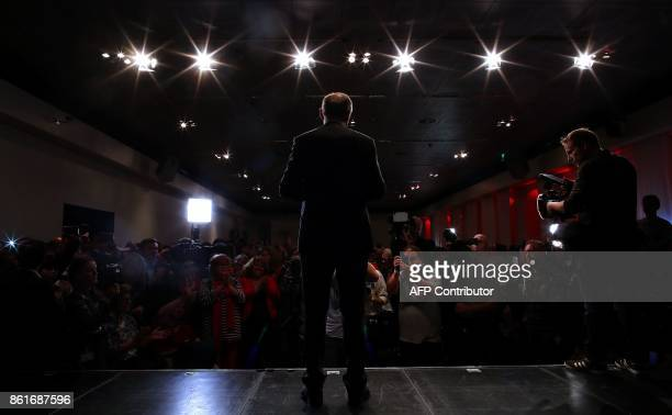 Lower Saxony's State Premier Stephan Weil of the Social democratic SPD party celebrates after snap elections in the northwestern federal state of...